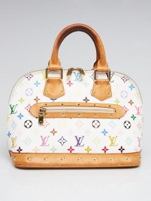 Louis Vuitton White Monogram Multicolore Alma Bag