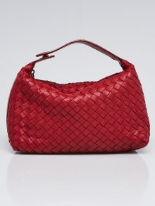 Bottega Veneta Eclipse Intrecciato Woven Nappa Leather Make-Up Bag