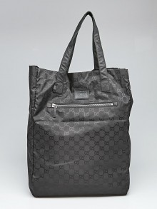 Gucci Black GG Nylon Viaggio Tote Bag