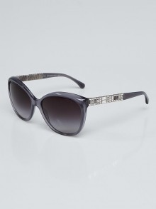 Chanel Grey Acetate and Crystals Sunglasses-5309B