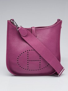 Hermes Anemone Clemence Leather Evelyne III PM Bag