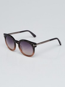 Tom Ford Black/Tortoise Acetate Frame Gradient Tint Janina Sunglasses - TF435