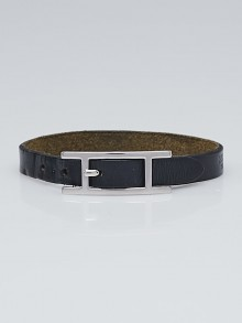 Hermes Black Box Calf Leather Behapi Simple Tour Bracelet Size M
