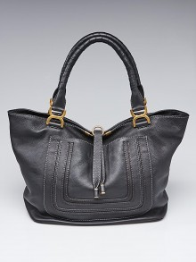 Chloe Black Pebbled Leather Large Marcie Tote Bag