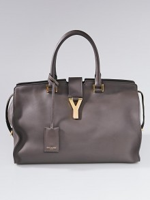Yves Saint Laurent Dark Grey Leather Medium Cabas ChYc Bag