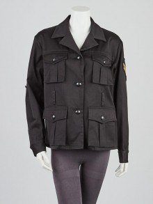 Emilio Pucci Black Cotton Military Jacket Size 8/42