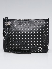 Alexander McQueen Black Leather Studded Pouch Bag