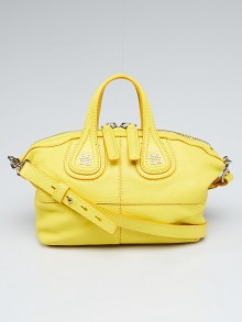Givenchy Yellow Sugar Goatskin Leather Micro Nightingale Bag