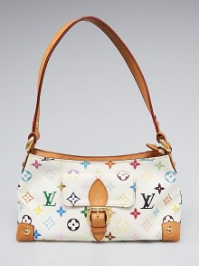 Louis Vuitton White Multicolore Monogram Eliza Bag