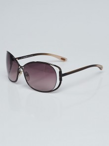 Tom Ford Metal Frame Gradient Tint Eugenia Sunglasses-TF156