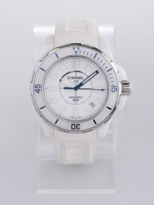 Chanel White J12 Ceramic 38mm Automatic Marine Watch