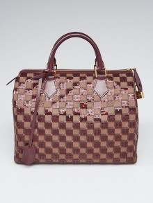 Louis Vuitton Limited Edition Red Damier Paillettes Speedy 30 Bag