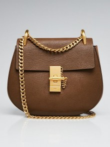 Chloe Brown Leather Small Drew Bag