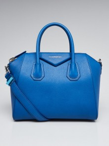 Givenchy Indigo Blue Sugar Goatskin Leather Small Antigona Bag