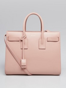 Yves Saint Laurent Pale Blush Calfskin Leather Small Sac de Jour Tote Bag