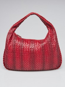Bottega Veneta Carmino Intrecciato Woven Nappa Leather Medium Veneta Hobo Bag