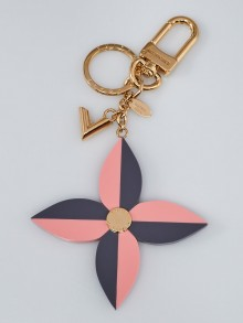 Louis Vuitton Pink/Purple Resin Flower and V Key Holder and Bag Charm