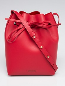 Mansur Gavriel Flamma/Flamma Calf Leather Mini Bucket Bag