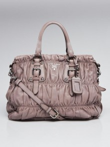 Prada Argilla Nappa Gaufre Leather Tote Bag BN1336