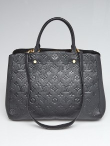 Louis Vuitton Black Monogram Empreinte Montaigne GM Bag