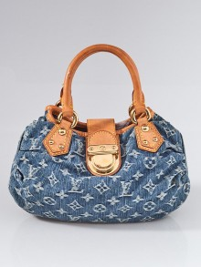 Louis Vuitton Blue Monogram Denim Pleaty Bag