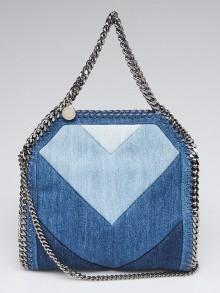Stella McCartney Blue Denim Mini Falabella Bag