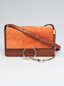 Chloe Tobacco Leather Small Faye Shoulder Bag