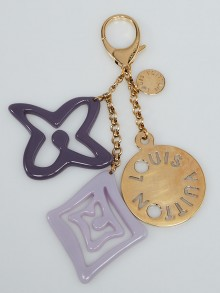 Louis Vuitton Purple Resin Tahitienne Key Holder and Bag Charm