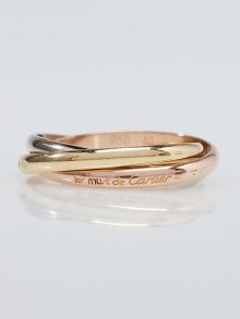 Cartier 18k Tri-Gold Trinity Small Ring Size 5/49
