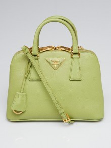 Prada Green Saffiano Leather Small Promenade Bag BL0838