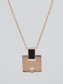 Hermes Rose Gold Plated Eileen Pendant