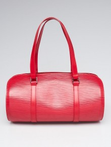 Louis Vuitton Red Epi Leather Soufflot Bag w/Accessories Pochette