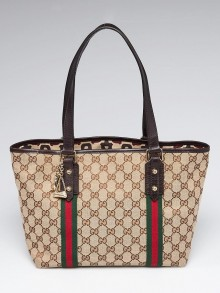 Gucci Beige/Ebony GG Canvas Jolicoeur Tote Bag