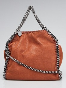 Stella McCartney Brown Shaggy Dear Faux Leather Mini Falabella Bag