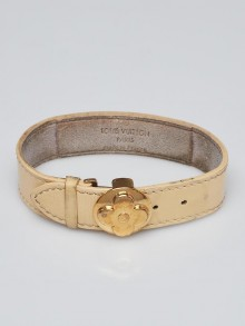 Louis Vuitton Cream Leather Monogram Millennium Wish Bracelet