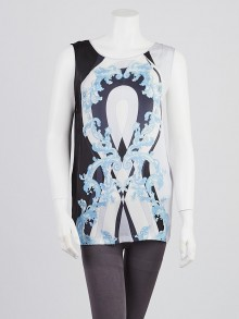 Emilio Pucci Multicolor Abstract Print Silk Sleeveless Blouse Size 6/40