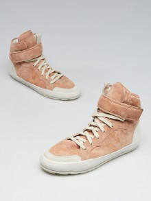 Isabel Marant Pink Suede High Top Bessy Sneakers Size 6.5/37