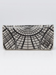 Chanel Grey Lambskin Leather and Sequin Grand Palais Clutch Bag