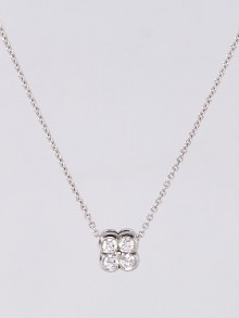 Tiffany & Co. Platinum and Diamond Flower Pendant Necklace