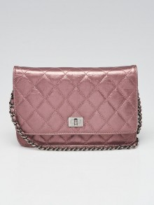 Chanel Metallic Light Purple Quilted Leather Reissue WOC Clutch Bag