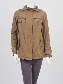 Burberry Olive Green Polyester Anorak Jacket Size XS