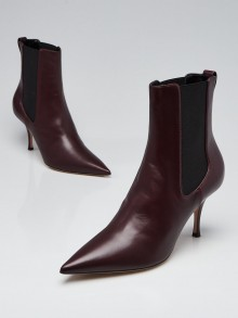 Christian Dior Rouge Noir Smooth Leather District Ankle Boots Size 8.5/39