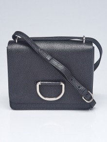 Burberry Black Pebbled Leather Small D-Ring Crossbody Bag