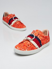 Gucci Orange Lace New Ace Sneakers Size 6/36.5