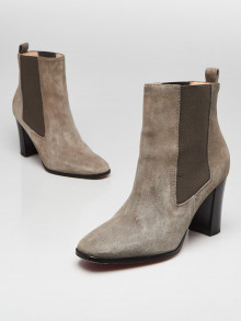 Christian Louboutin Grey Suede Ankle Boots Size 9/39.5
