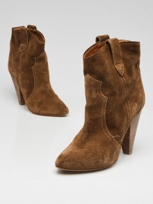 Isabel Marant Green Suede Roxann Booties Size 6.5/37