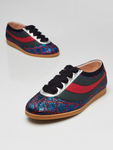 Gucci Blue/Red GG Falacer Lurex Web Sneakers Size 5/35.5