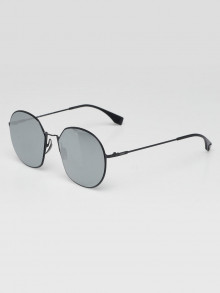 Fendi Blacktone Metal Frame Oversized Round Sunglasses FF0313