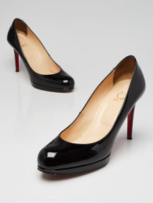 Christian Louboutin Black Patent Leather New Simple 100 Pumps Size