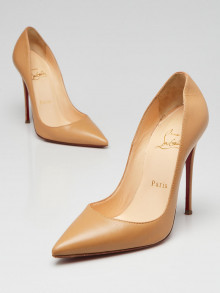 Christian Louboutin Beige Nappa Leather So Kate 120 Pumps Size 5/35.5